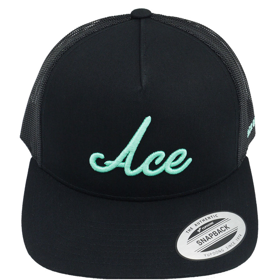 ACE TRUCKER - BLACK - Ace of Clubs Golf Company