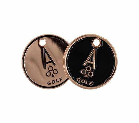 Copper Golf Ball Markers - Ace of Clubs Golf Company