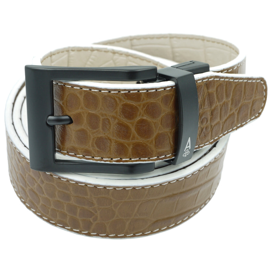 ESPRESSO & CREAM REVERSIBLE ALLIGATOR - Ace of Clubs Golf Company