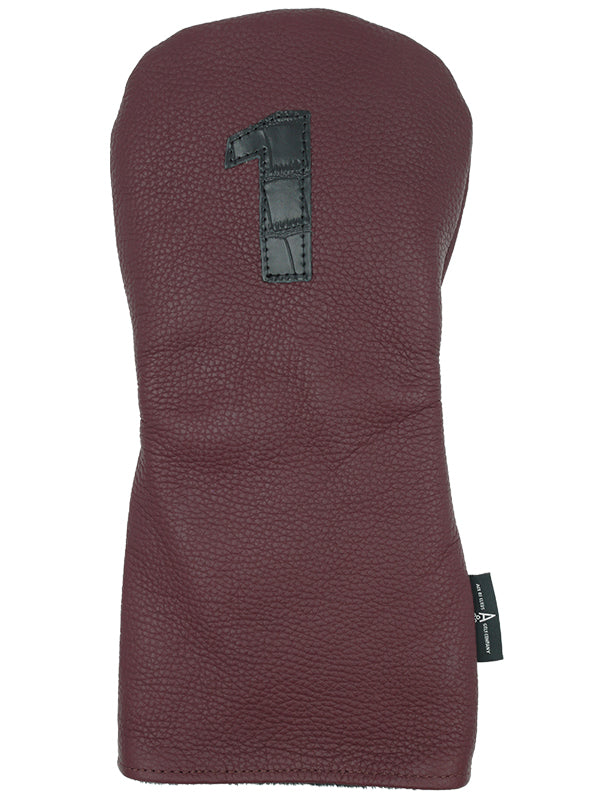 MAROON LEATHER - Ace of Clubs Golf Company