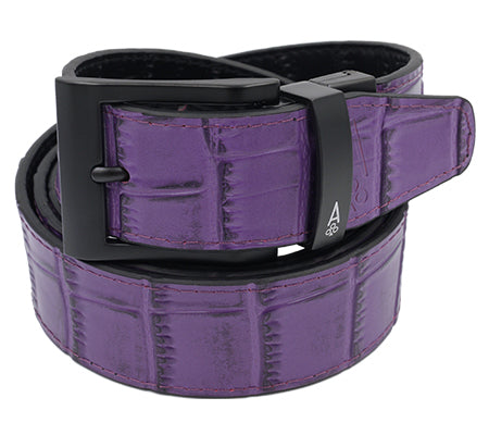 PURPLE & BLACK REVERSIBLE ALLIGATOR - Ace of Clubs Golf Company