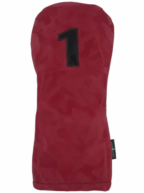 Red Camo Leather - Ace of Clubs Golf Company
