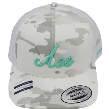 ACE TRUCKER - SNOW CAMO - Ace of Clubs Golf Company