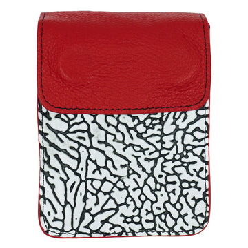 RED & WHITE CEMENT LEATHER - Ace of Clubs Golf Company
