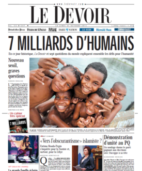 7 milliards d'humains