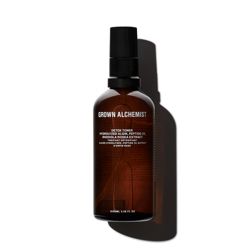Grown Alchemist | Detox Toner: Hydrolyzed Algin, Peptide-33, Rhodiola Rosea Extract - 3.38 fl oz