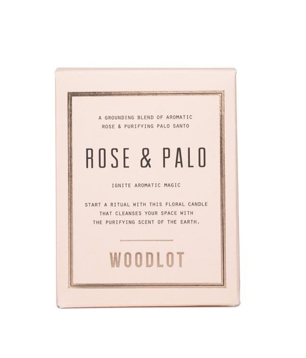 Woodlot | Rose & Palo Candle - 8oz
