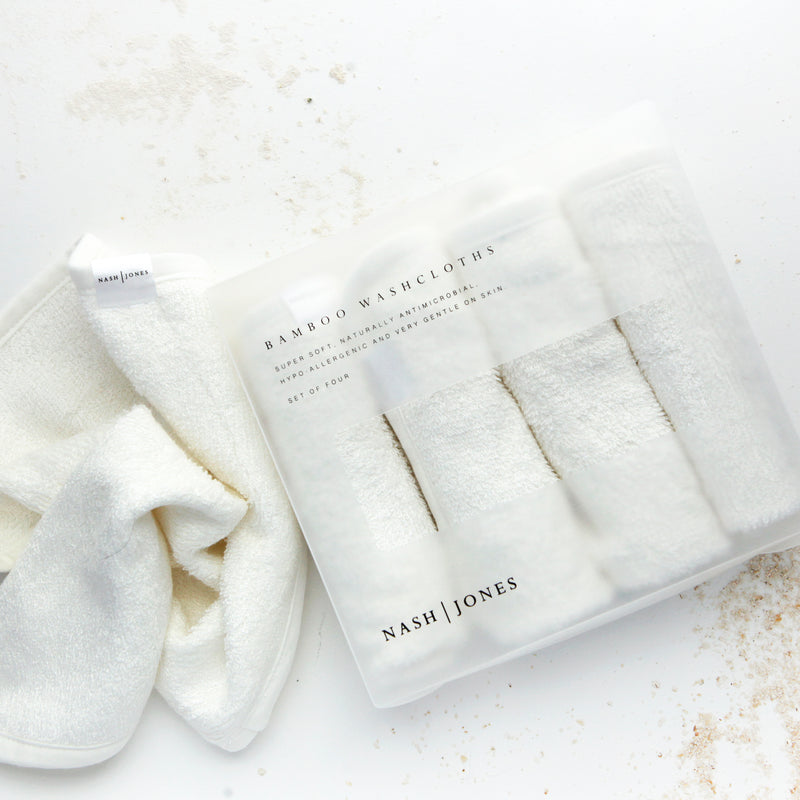 Nash + Jones | Bamboo Washcloths - 4 cloths