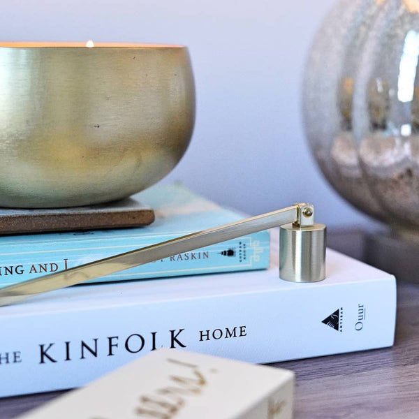 Rewined | Brushed gold candle snuffer