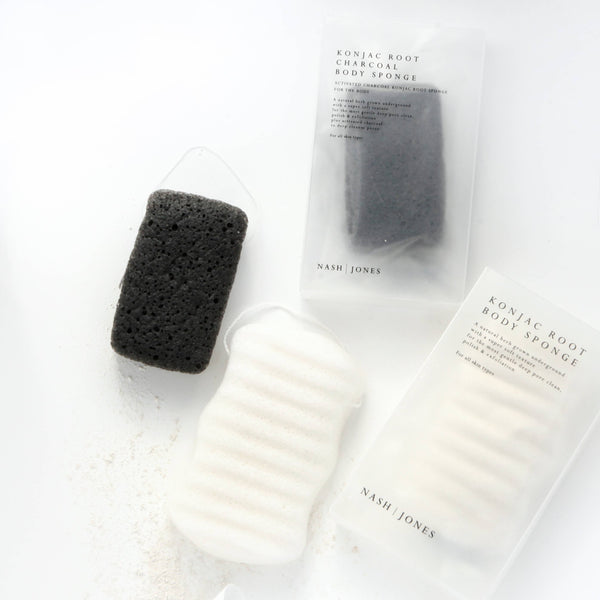 Nash + Jones | Activated Charcoal Konjac Body Sponges - 1 Sponge