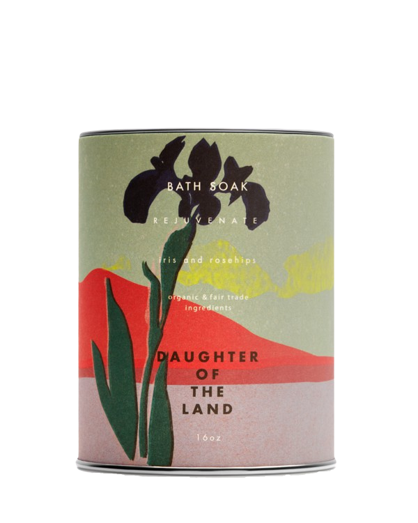 Daughter of the Land | Iris + Rosehips Bath Soak - 16 oz