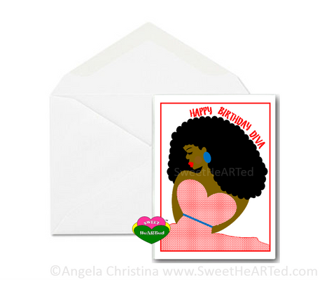 Card-  Happy Birthday Diva-Melinda