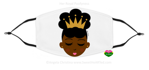 Face Covering-Her Royal Poofyness-Gold Crown (Child's)
