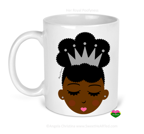 Mug-Her Royal Poofyness-Platinum Crown