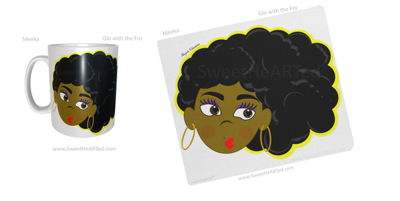 Mug & Mouse pad set -Meeka