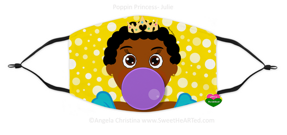 Face Covering-Poppin Princess-Julie (Child)