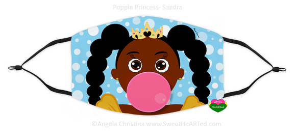 Face Covering-Poppin Princess-Sandra (Child)