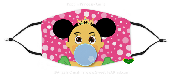Face Covering-Poppin Princess-Carlie (Child)