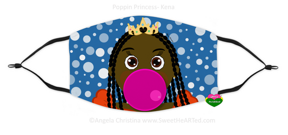 Face Covering-Poppin Princess-Kena (Child)