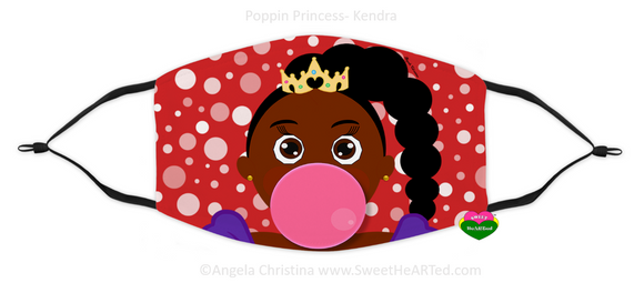 Face Covering-Poppin Princess-Kendra (Child)
