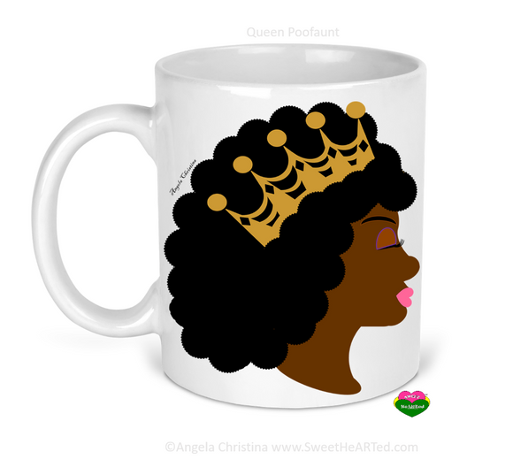 Mug-Queen Poofaunt-Gold Crown