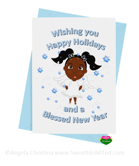 Holiday Card- Snow Angel-Eden