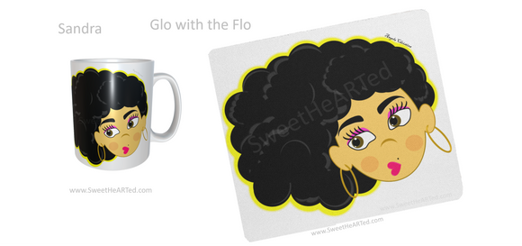 Mug & Mouse pad set -Sandra