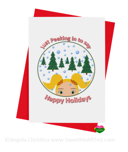 Holiday Card- Peeking in -Shannon