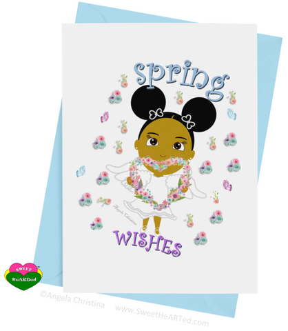 Card- Spring Angel-Brandy