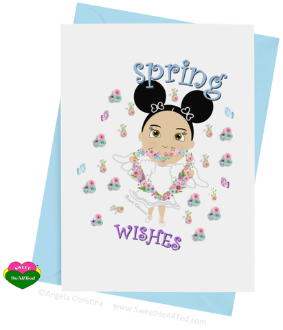 Card- Spring Angel-Carol