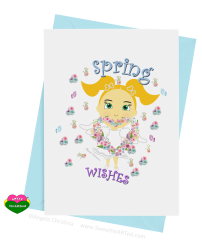 Card- Spring Angel-Taylor