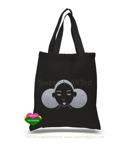 Tote-Give Me My Puffs-(Platinum Glitter)
