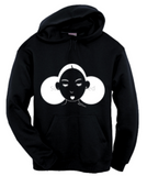 Give Me My Puffs - Fleece Hood (White on Black)