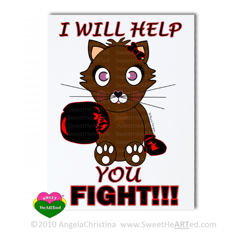 Note Cards -  Black/Red - Boxing Buddies-Kitty