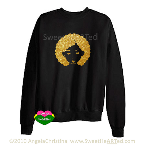 Bump This -Sweat Shirt (Gold Glitter on Blk)