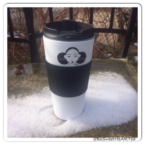 Travel mug- Give me my puffs (blk/white)