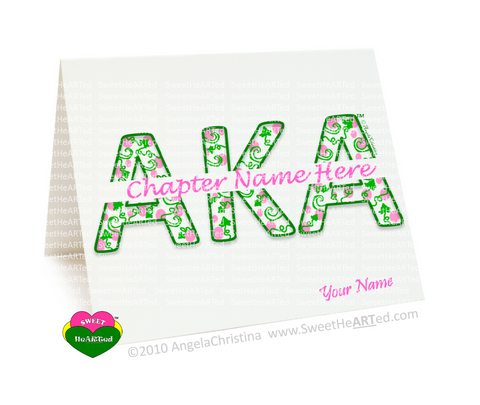 AKA-Note Cards- Personalized Ivy-AKA