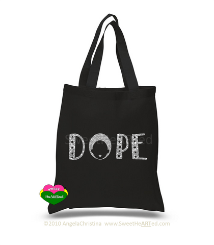 Dope-Tote (Platinum Glitter on Blk)