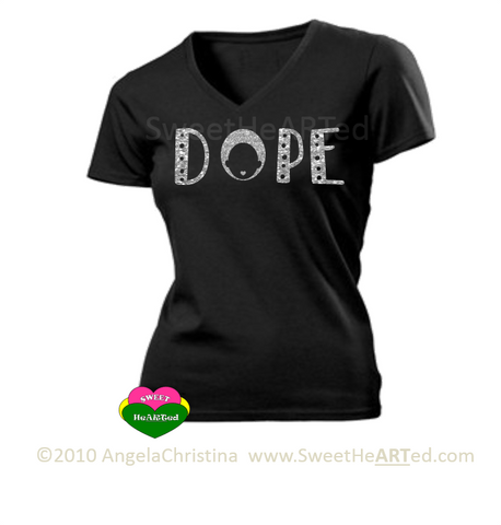 Dope -Tee (Silver Glitter on Blk)