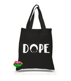 Dope-Tote (Gold Glitter on Blk)