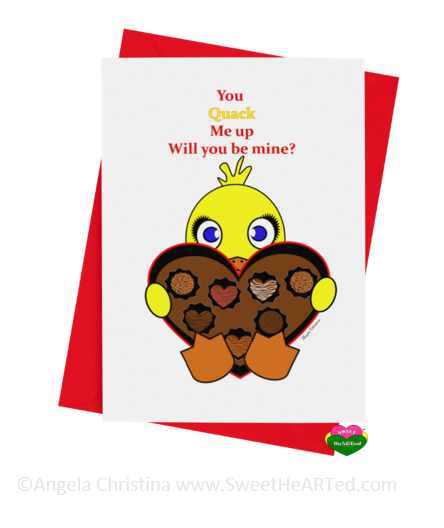 Card - Hearts of Chocolate-Ducky