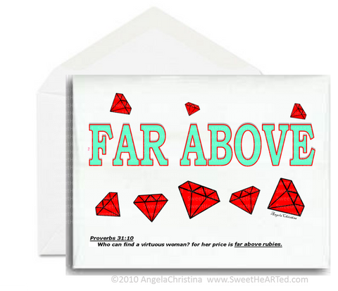 Note Card- Far Above (Rubies)