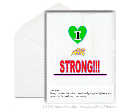 Note Card- I am Strong