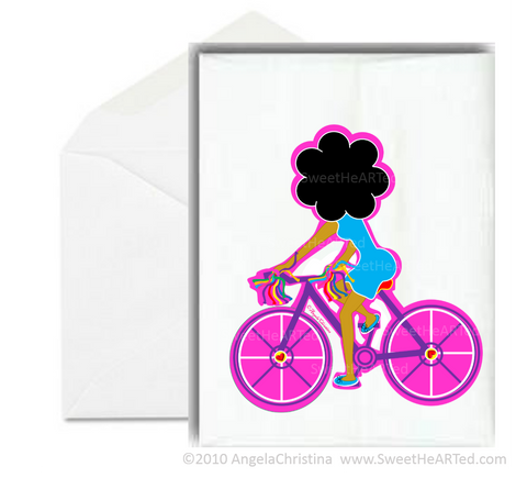 Notecard- Purple Bike