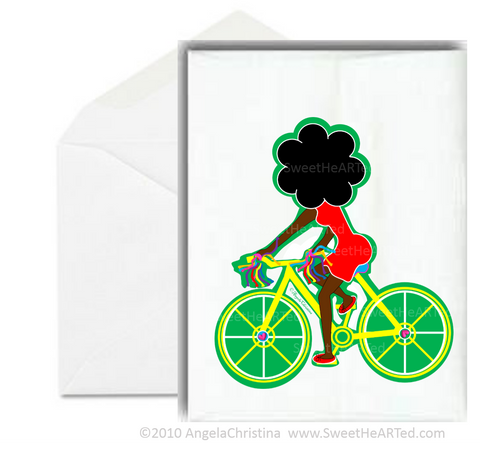 Notecard- Yellow Bike
