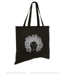 Glitter Tee & Tote Set- Locks on Shine (Platinum on Blk)