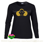 Give Me My Puffs -Long sleeve Tee (Gold Glitter on Blk)