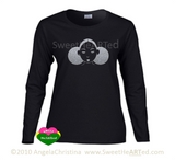 Give Me My Puffs -Long sleeve Tee (Silver Glitter on Blk)