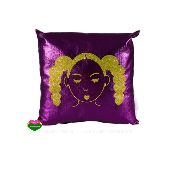Pillow-(Puffy Tails Rocking-Purple)