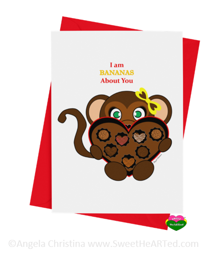 Card - Hearts of Chocolate-Monkey